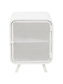 Weißer Nachttisch Rita aus Metall, Metall, lackiert, Weiß, 42 x 54 cm