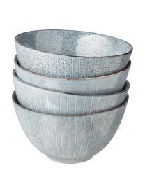 Bol fait à la main Nordic Sea, 4pièces, Tons gris et bleus