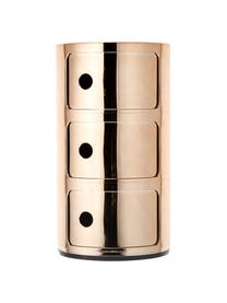 Design Container Componibili 3 Fächer, Kunststoff, metallicbeschichtet, Kupferfarben, Ø 32 x H 59 cm