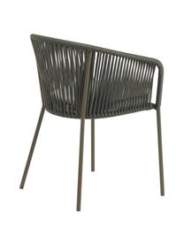 Gartenstuhl Yanet, Gestell: Metall, verzinkt und lack, Bezug: Polyester, Grün, B 56 x T 51 cm