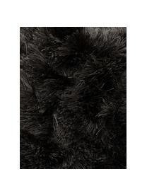 Glanzend hoogpolig  vloerkleed Jimmy in donkergrijs, Bovenzijde: 100% polyester, Onderzijde: 100% katoen, Donkergrijs, B 300 x L 400 cm (maat XL)