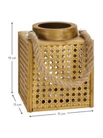Laterne Ripoll, Rahmen: Mitteldichte Holzfaserpla, Braun, 15 x 19 cm