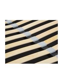Letto imbottito in tessuto beige con contenitore Star, Rivestimento: poliestere (tessuto testu, Tessuto beige, 180 x 200 cm