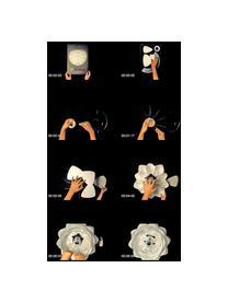 Pendelleuchte Silvia, Bausatz, Lampenschirm: Polypropylen, Baldachin: Kunststoff, Kupferfarben, Weiß, Ø 50 x H 41 cm