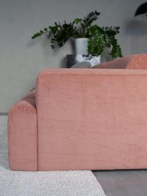 Ribfluwelen bank Melva (3-zits) in roze, Bekleding: corduroy (92% polyester, , Frame: massief grenenhout, FSC-g, Poten: kunststof, Corduroy roze, 238 x 101 cm