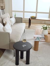 Tavolino rotondo in legno di quercia Didi, Legno di quercia massiccio, verniciato, Nero, Ø 40 x Alt. 45 cm