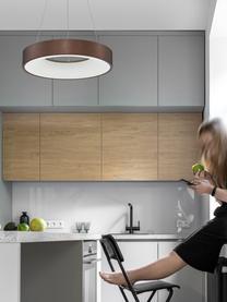 Dimmbare LED-Pendelleuchte Rando in Bronze, Lampenschirm: Aluminium, beschichtet, Baldachin: Aluminium, beschichtet, Bronzefarben, Ø 60 x H 6 cm