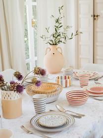 Ręcznie wykonany kubek Beldi, Ceramika, Pomarańczowy, odcienie kremowego, złoty, Ø 8 x W 11 cm
