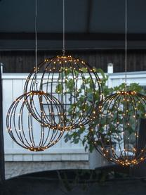 LED-Außenleuchte Mounty, Lampenschirm: Kunststoff, Schwarz, Ø 30 cm