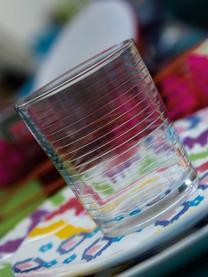 Wassergläser Clear mit verschiedenen Strukturmustern, 6er-Set, Glas, Transparent, Ø 9 x H 10 cm