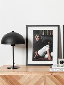 Tischlampe Matilda aus Metall, Lampenschirm: Metall, pulverbeschichtet, Lampenfuß: Metall, pulverbeschichtet, Schwarz, Ø 29 x H 45 cm