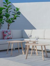 Gartenbeistelltisch Marzia in Beige, Stahl, epoxidiert, Beige, Ø 70 x H 40 cm