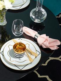 Coupe à champagne porcelaine Sip of Gold, Noir, blanc, or