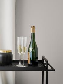 Vakuum-Flaschenverschluss Collar in Gold, Edelstahl, vermessingt, Messingfarben, Ø 4 x H 6 cm