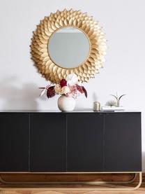 Miroir mural rond doré Petal, Couleur dorée