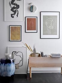Libreria beige Douve, Legno di paulownia, compensato, Beige, Larg. 91 x Alt. 50 cm