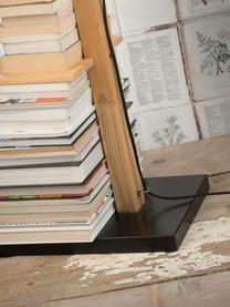 Lampa na čtení s policemi Cambridge, Černá, dřevo