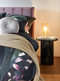Mauvekleurig fluwelen gestoffeerd bed Dusk met hoofdeinde, Frame: massief grenenhout en pla, Bekleding: polyester fluweel, Poten: gepoedercoat metaal, Mauve, 180 x 200 cm