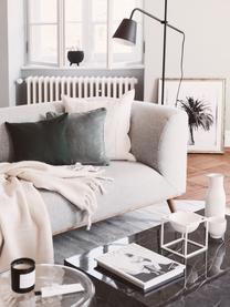 Poszewka na poduszkę z aksamitu Dana, 100% aksamit bawełniany, Szałwiowy zielony, S 40 x D 40 cm
