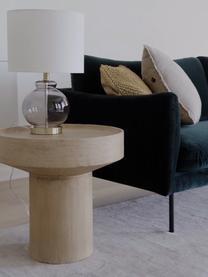 Stolik pomocniczy z drewna mangowego Benno, Lite drewno mangowe, lakierowany, beton, Drewno mangowe, szary, rozmyty, Ø 50 x W 50 cm
