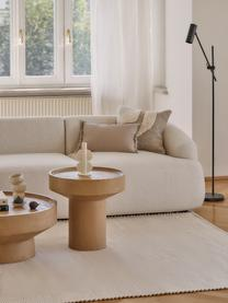 Beistelltisch Benno aus Mangoholz in Hellbraun, Massives Mangoholz, lackiert, Beton, Hellbraun, ∅ 50 x H 50 cm