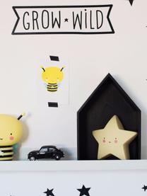 Malá dekorativní LED lampa s časovačem Star, Žlutá, černá, růžová