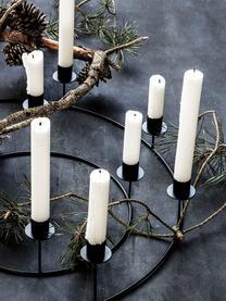 Kerzenhalter Stilu, Metall, beschichtet, Schwarz, Ø 50 x H 12 cm