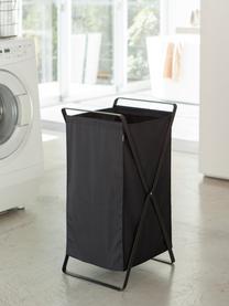 Cesta de lavandería Tower, Estructura: acero, pintado, Cesta: poliéster, Negro, An 36 x Al 64 cm