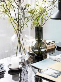 Vaso decorativo in vetro Bubble, Vetro, Grigio trasparente, Ø 18 x Alt. 35 cm