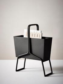 Zeitschriftenhalter Billie, Metall, beschichtet, Schwarz, 41 x 52 cm