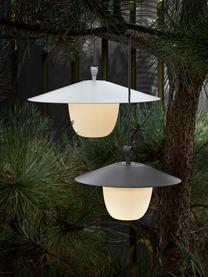 Mobile Dimmbare Außenleuchte Ani zum Hängen oder Stellen, Lampenschirm: Aluminium, Lampenfuß: Aluminium, beschichtet, Weiß, Ø 34 x H 121 cm