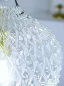 Malé závěsné svítidlo ze skla Lee, Transparentní, mosazná