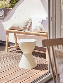Sgabello / tavolino di design Prince AHA, Polipropilene, Crema, Ø 30 x Alt. 43 cm