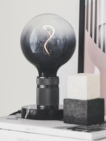 Lampadina E27 XL, 4W, dimmerabile, bianco caldo, 1 pz, Paralume: vetro, Base lampadina: metallo rivestito, Grigio trasparente, Ø 13 x Alt. 17 cm