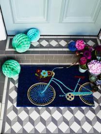 Fußmatte Bicycle, Oberseite: Kokosfaser, Unterseite: Kunststoff (PVC), Schwarz, Mehrfarbig, 45 x 75 cm