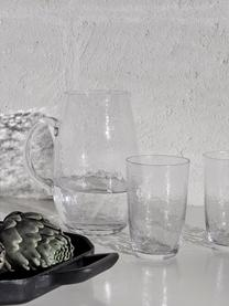 Mundgeblasener Krug Hammered, 2 L, Glas, mundgeblasen, Transparent, 2 L