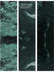 Tavolino da salotto con piano in marmo Alys, Piano d'appoggio: pietra naturale di marmo, Struttura: metallo verniciato a polv, Piano d'appoggio: marmo verde Struttura: dorato, lucido, Larg. 80 x Alt. 40 cm