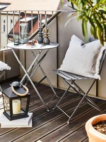 Balkonset Chelsea van metaal, 3-delig, Gepoedercoat metaal, Donkergrijs, Set met verschillende formaten
