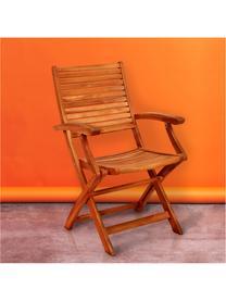 Klappstühle Somerset mit Armlehnen aus Holz, 2 Stück, Akazienholz, geölt, Akazienholz, B 54 x T 63 cm