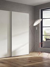 Witte kledingkast Oliver met schuifdeuren, Frame: panelen op houtbasis, gel, Wit, 302 x 225 cm