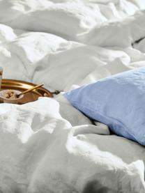 Pościel lniana z efektem sprania Nature, Jasny szary, 135 x 200 cm + 1 poduszka 80 x 80 cm