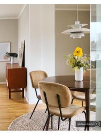 Okrągły stół do jadalni z litego drewna Oscar, Lite drewno mangowe, lakierowane, Ciemnybrązowy, Ø 106 cm