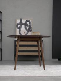 Runder Massivholz Esstisch Oscar, Mangoholz massiv, lackiert, Dunkelbraun, Ø 106 cm