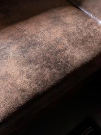 Divano letto angolare in tessuto marrone Lilly, Rivestimento: 100% microfibra, Marrone, Larg. 237 x Prof. 197 cm