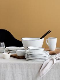 Tazza in terracotta fatta a mano Salt 6 pz, Porcellana, Bianco latteo, nero, Ø 8 x Alt. 12 cm