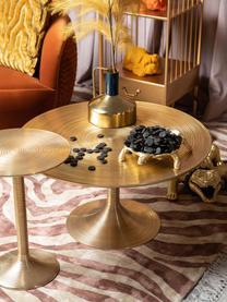 Okrągły stolik kawowy Hypnotising, Aluminium lakierowane, Odcienie mosiądzu, Ø 77 x W 40 cm