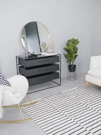 Runder Wandspiegel Ada mit Goldrahmen, Rahmen: Eisen, vermessingt, Spiegelfläche: Spiegelglas, Messing, gebürstet, Ø 120 cm