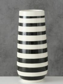 Gestreifte Vase Valonia aus Dolomit, Dolomit, Mehrfarbig, Ø 9 x H 20 cm