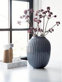 Handgefertigte Design-Vase Hammershøi, Porzellan, Anthrazit, Ø 20 x H 25 cm