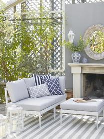 Modulares Garten-Loungesofa Acton in Hellgrau, Bezug: 100% Polyester Der hochwe, Gestell: Metall, pulverbeschichtet, Grau, B 226 x T 148 cm
